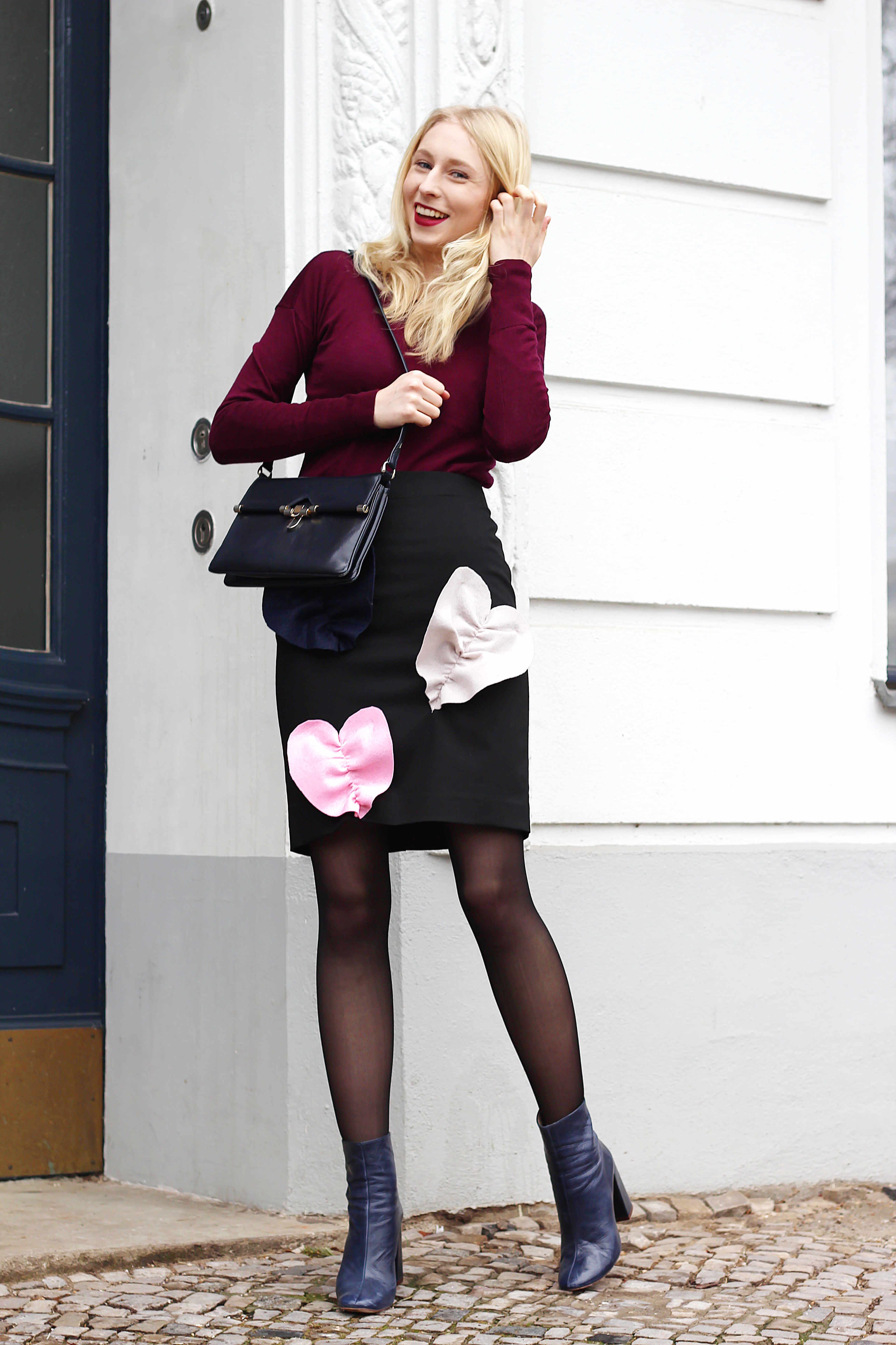 MSGM heart skirt