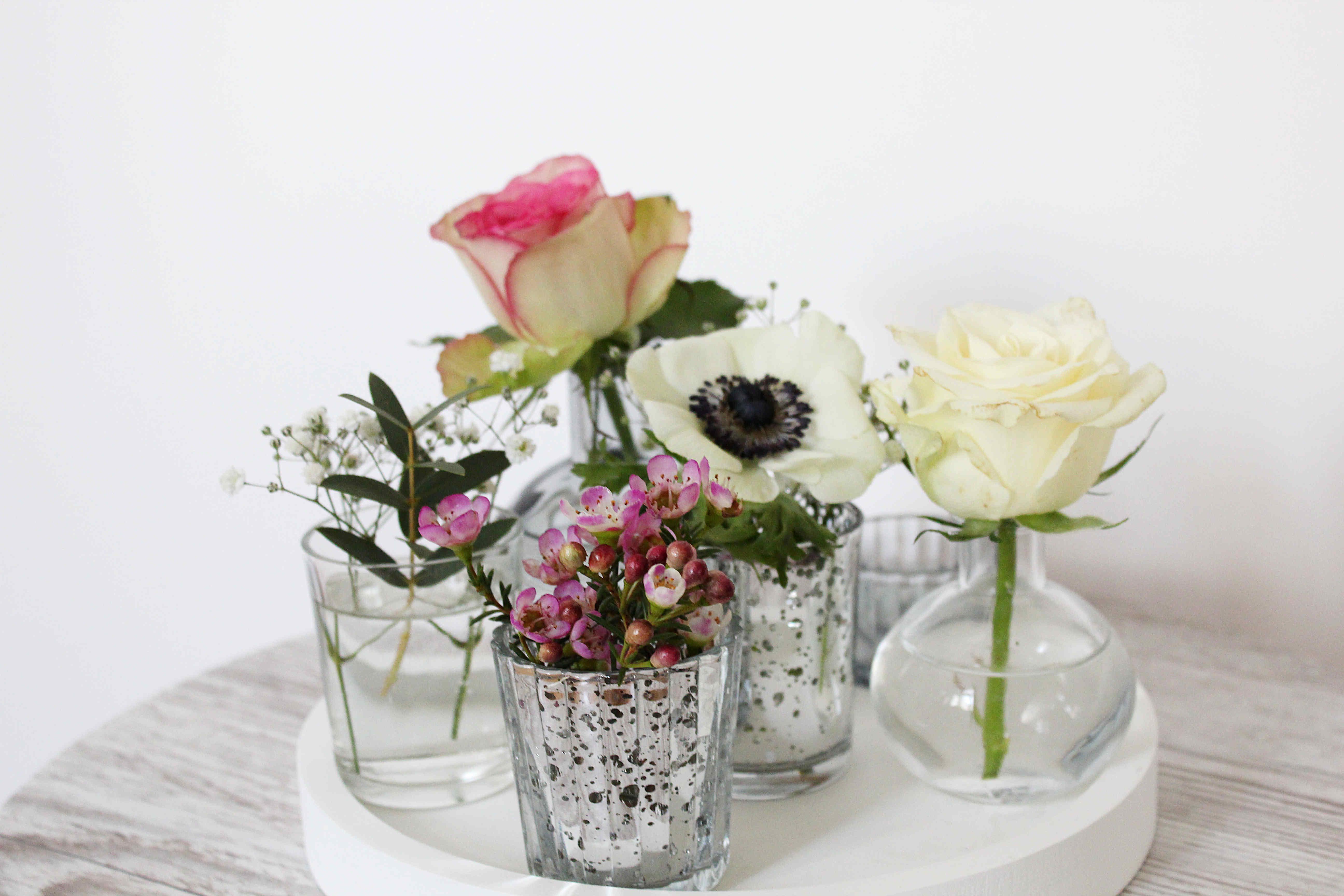 Mini glas vases