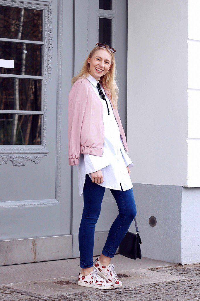 Pastel pink outfit