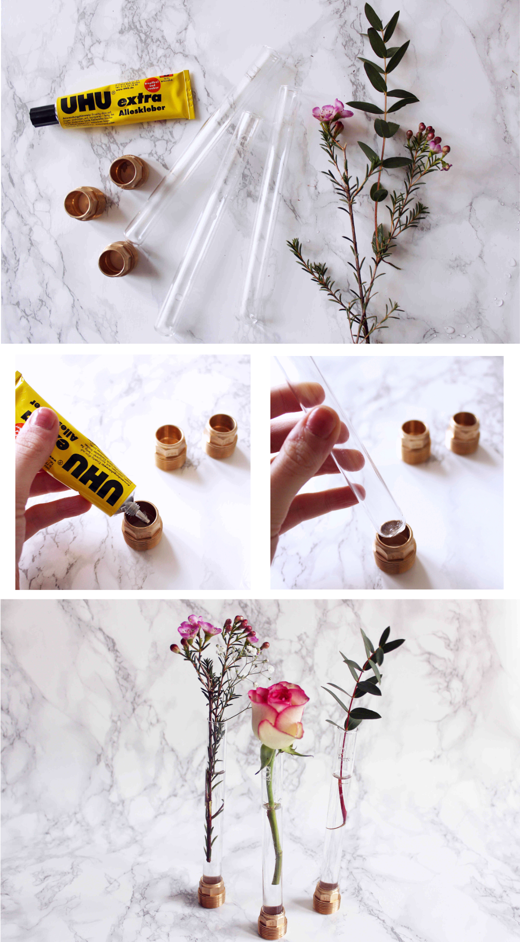 DIY Anleitung Reagenzglas Vase Selber Machen