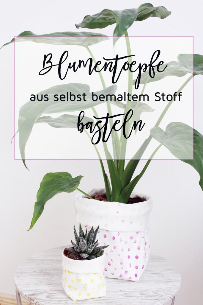 Blumentöpfe selber machen- DIY Anleitung