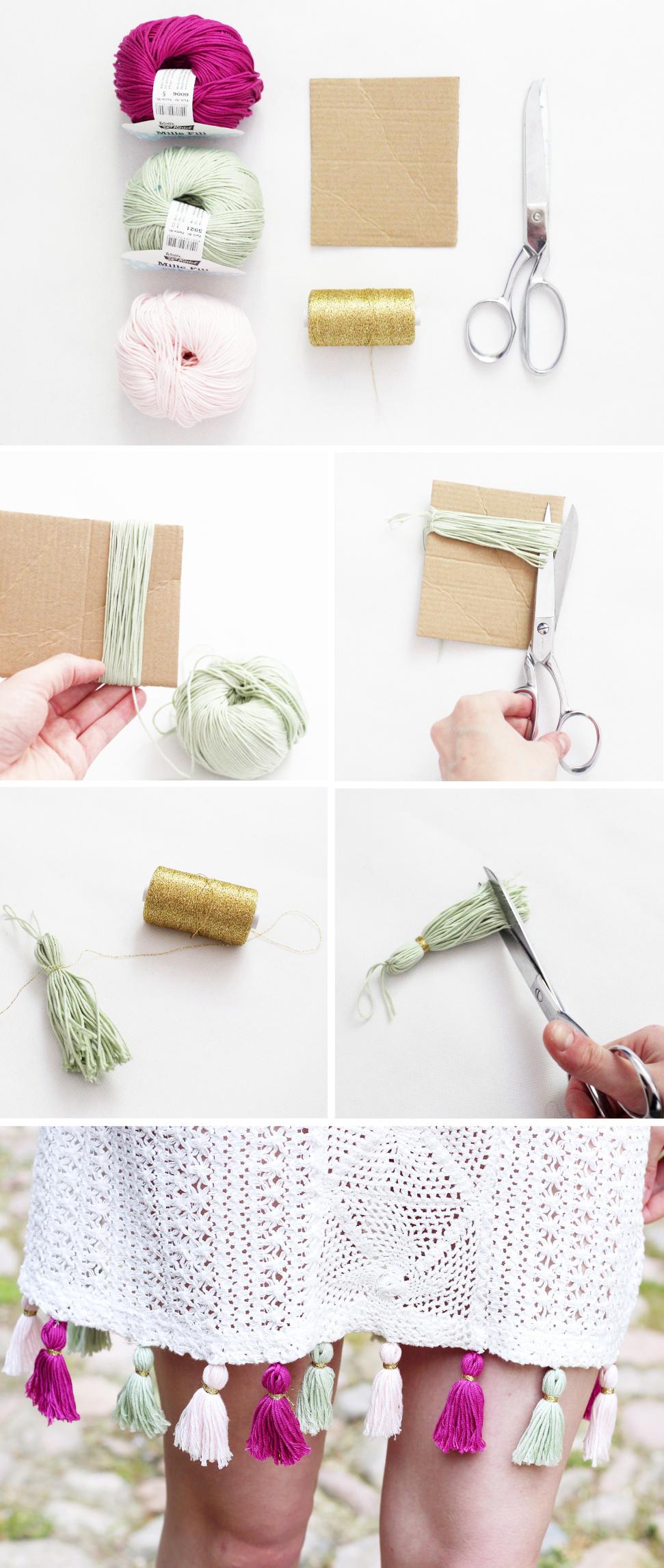 DIY Anleitung: Kleid mit Quasten Verzieren