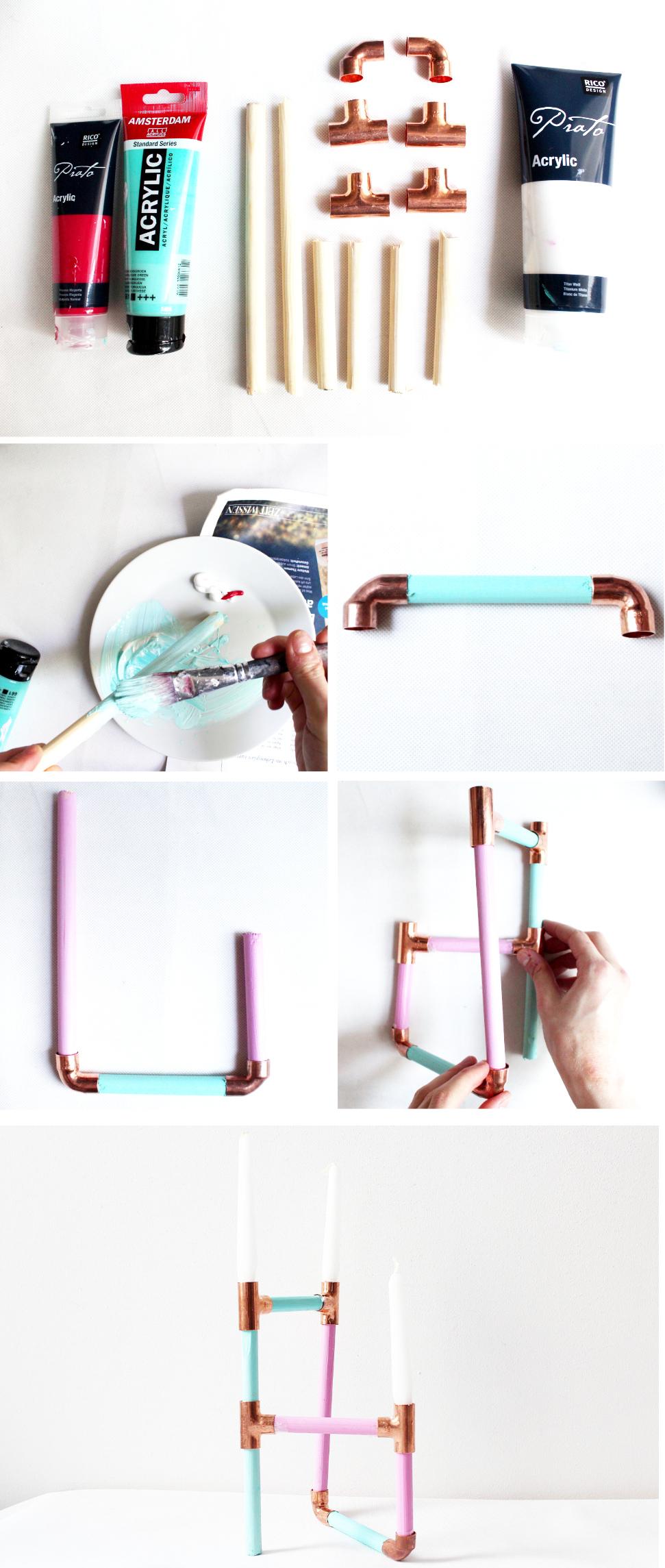 Kerzenständer aus Kupfer Selber machen - DIY Anleitung