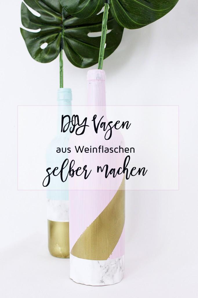 Vase aus Flasche basteln - DIY Anleitung