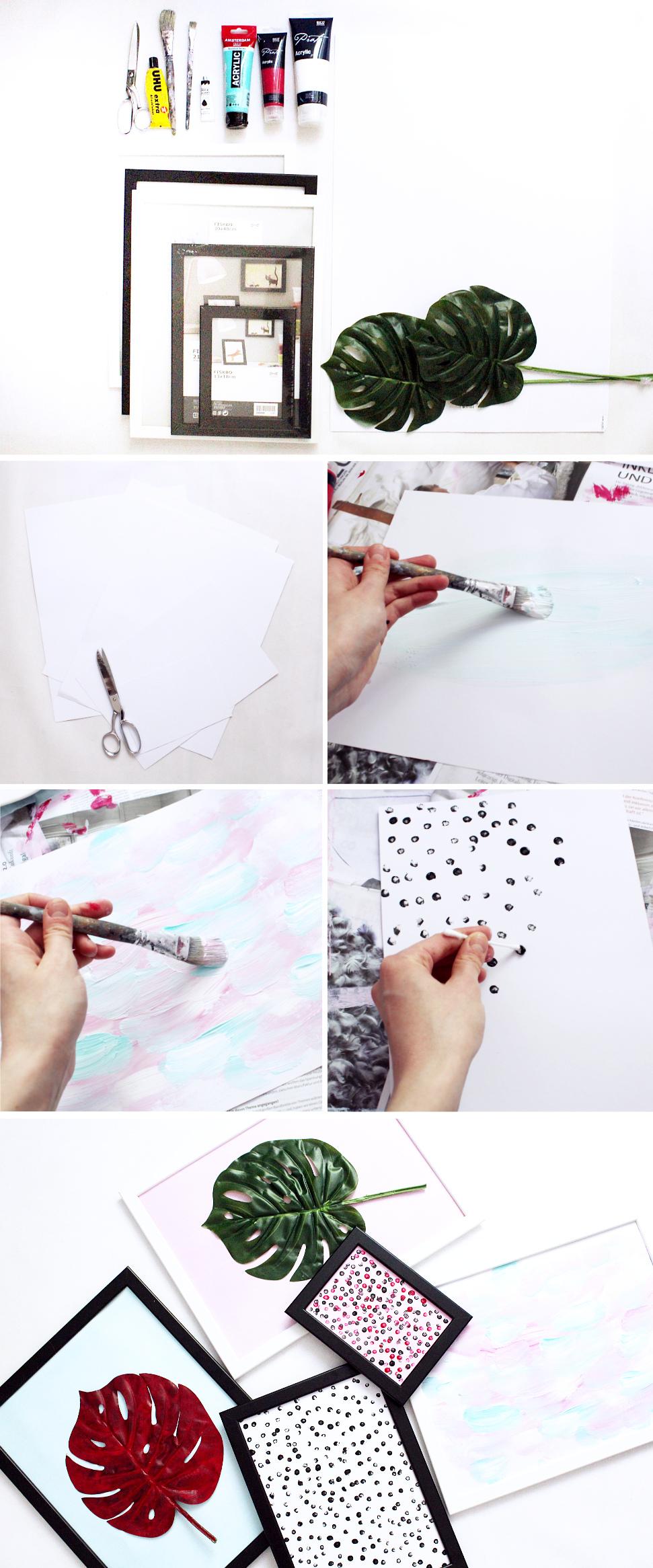 Wanddeko Ideen zum Selber machen -- DIY Anleitung