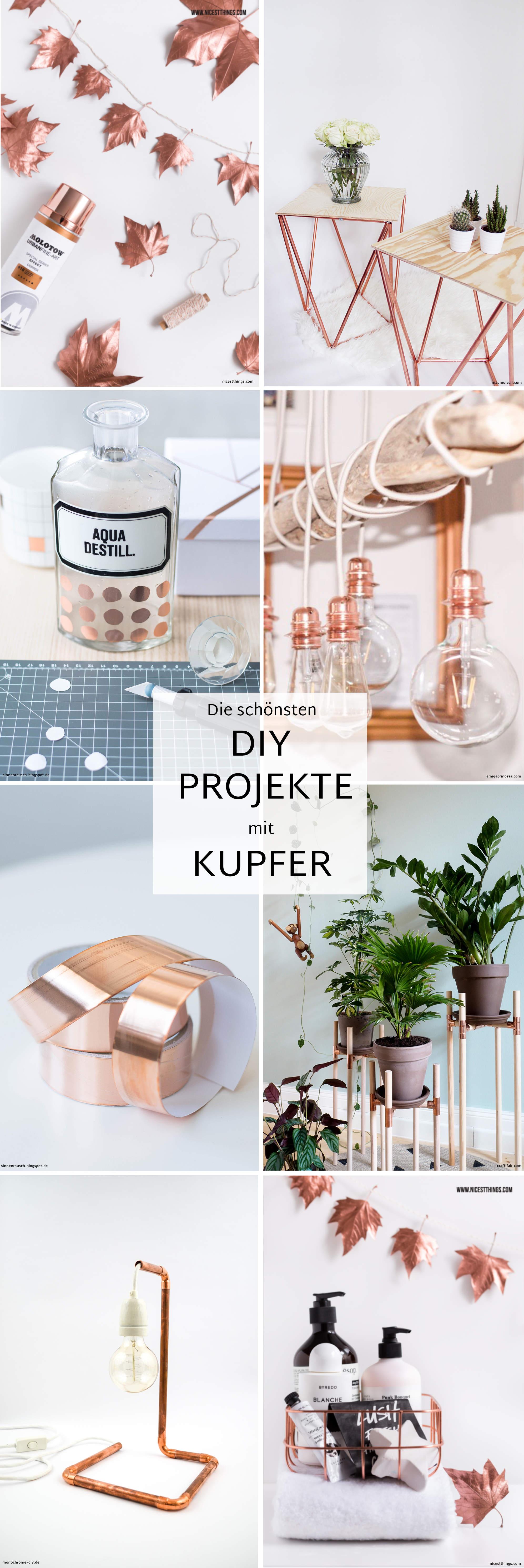 Fesselnd Die Schönsten DIY Projekte Mit Kupfer