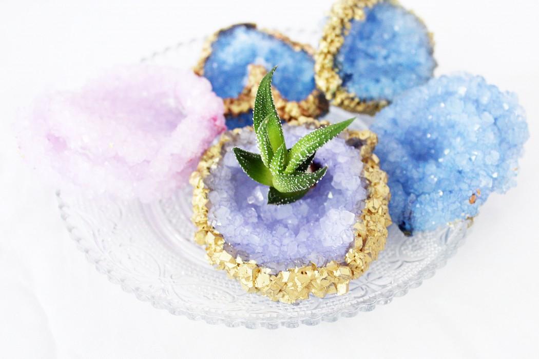 Kristall Deko kristalle züchten diy kristall deko für zuhause