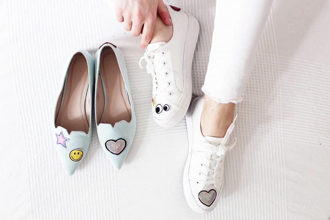 e35bb3b9cd6299 Patches Trend  DIY Schuhe mit Aufnähern verzieren
