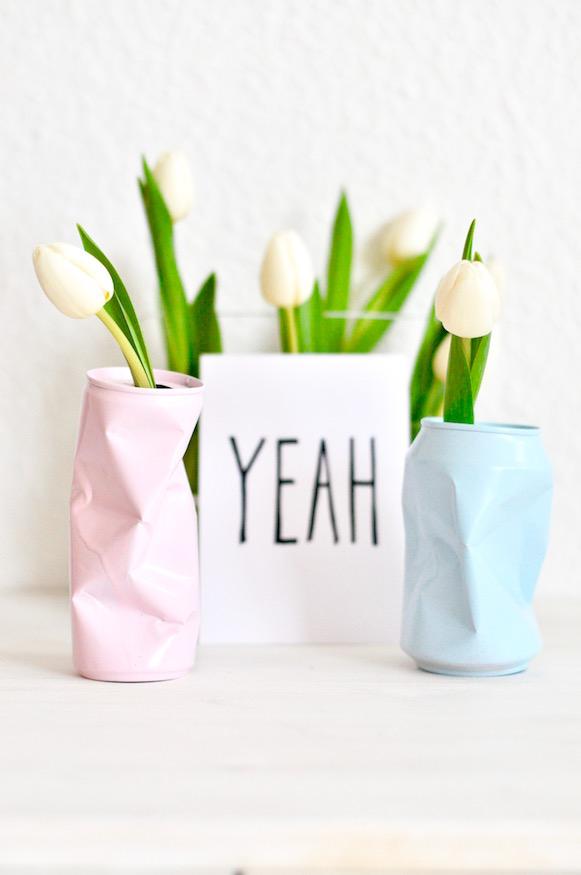 DIY Geschenk Vasen aus Dosen