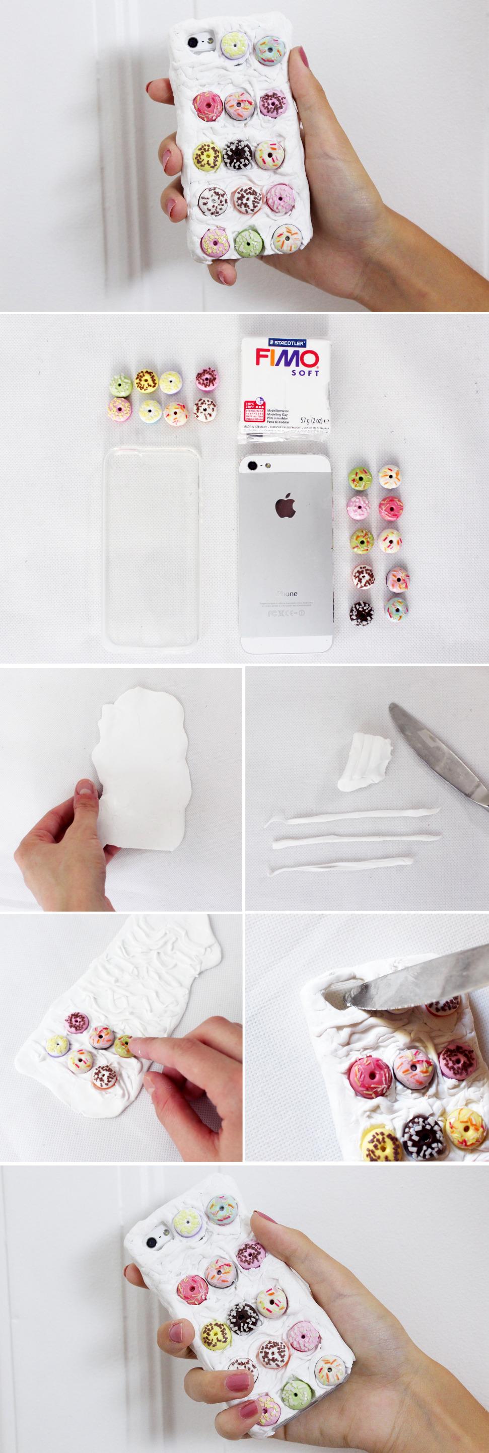 DIY-Anleitung-iphone-hülle-case-verzieren-mit-donuts-und-fimo