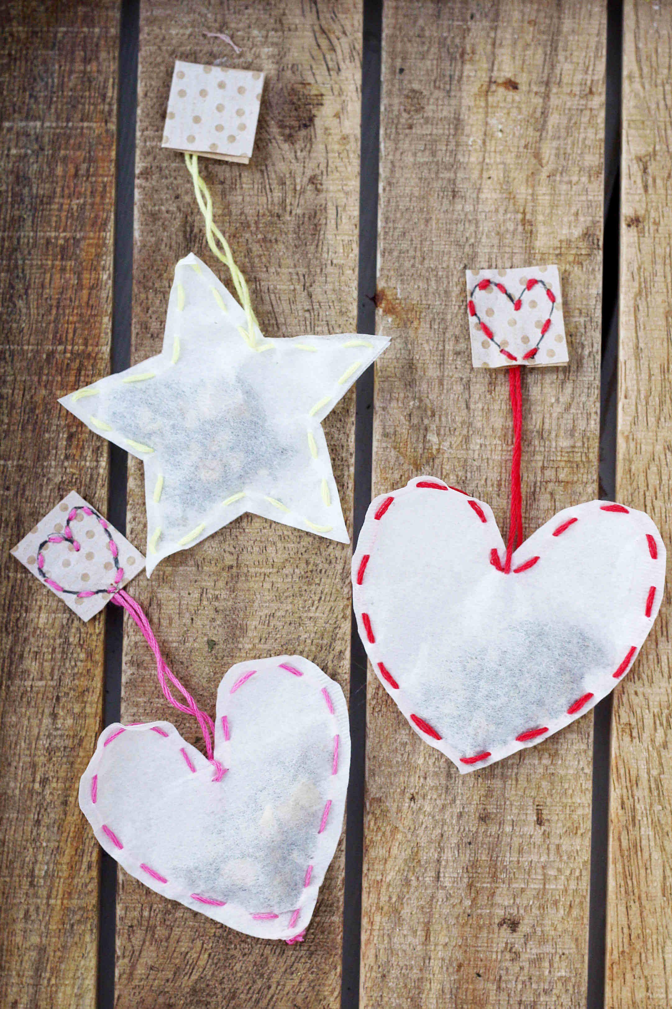 Teebeutel selber machen kreative diy geschenkidee - Ideen weihnachtsgeschenke basteln ...