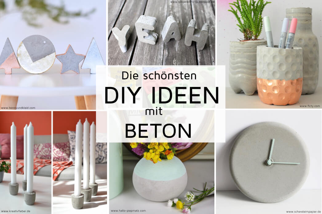die sch nsten diy ideen mit beton madmoisell diy blog. Black Bedroom Furniture Sets. Home Design Ideas