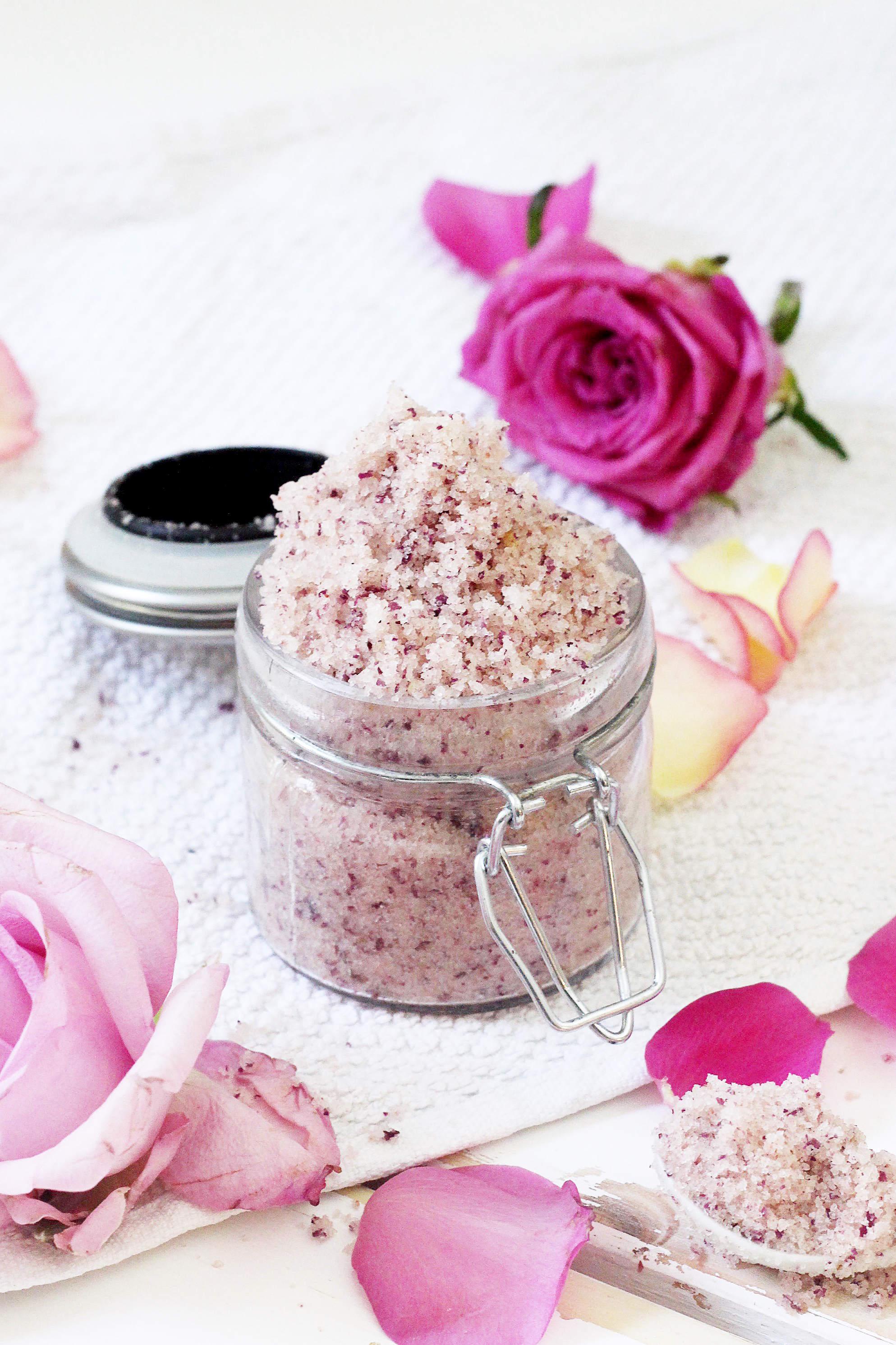 Diy Körperpeeling Mit Rose-mandel Duft Selbermachen Diy Selber Machen