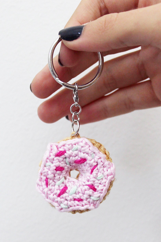 Amigurumi Schlüsselanhänger In Donut Form Basteln Und Häkeln