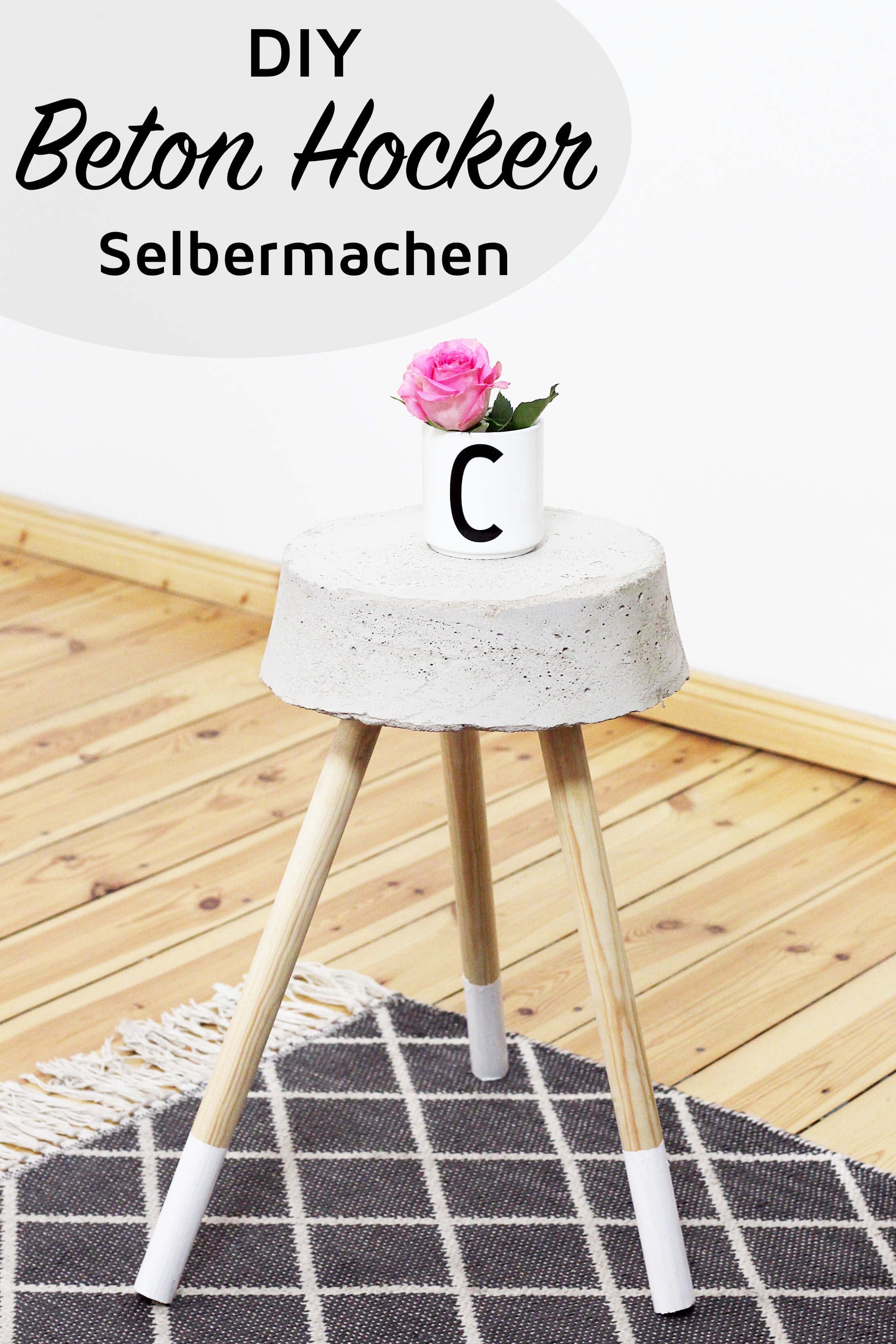 diy beton hocker zum selber bauen stylisches wohn accessoire. Black Bedroom Furniture Sets. Home Design Ideas