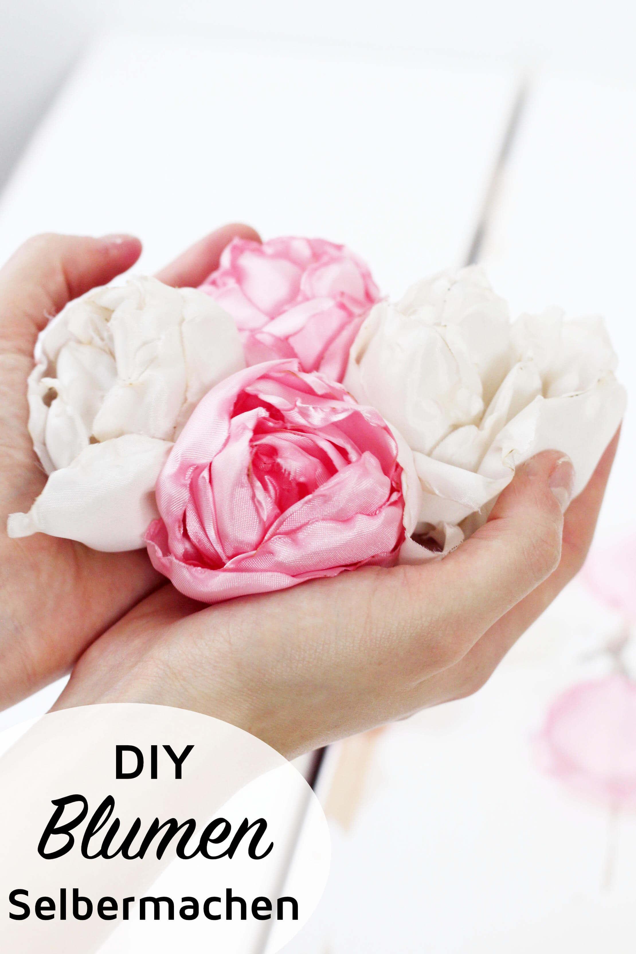 blumen aus stoff selber basteln, stoffblumen selber machen - kreative diy anleitung, Design ideen