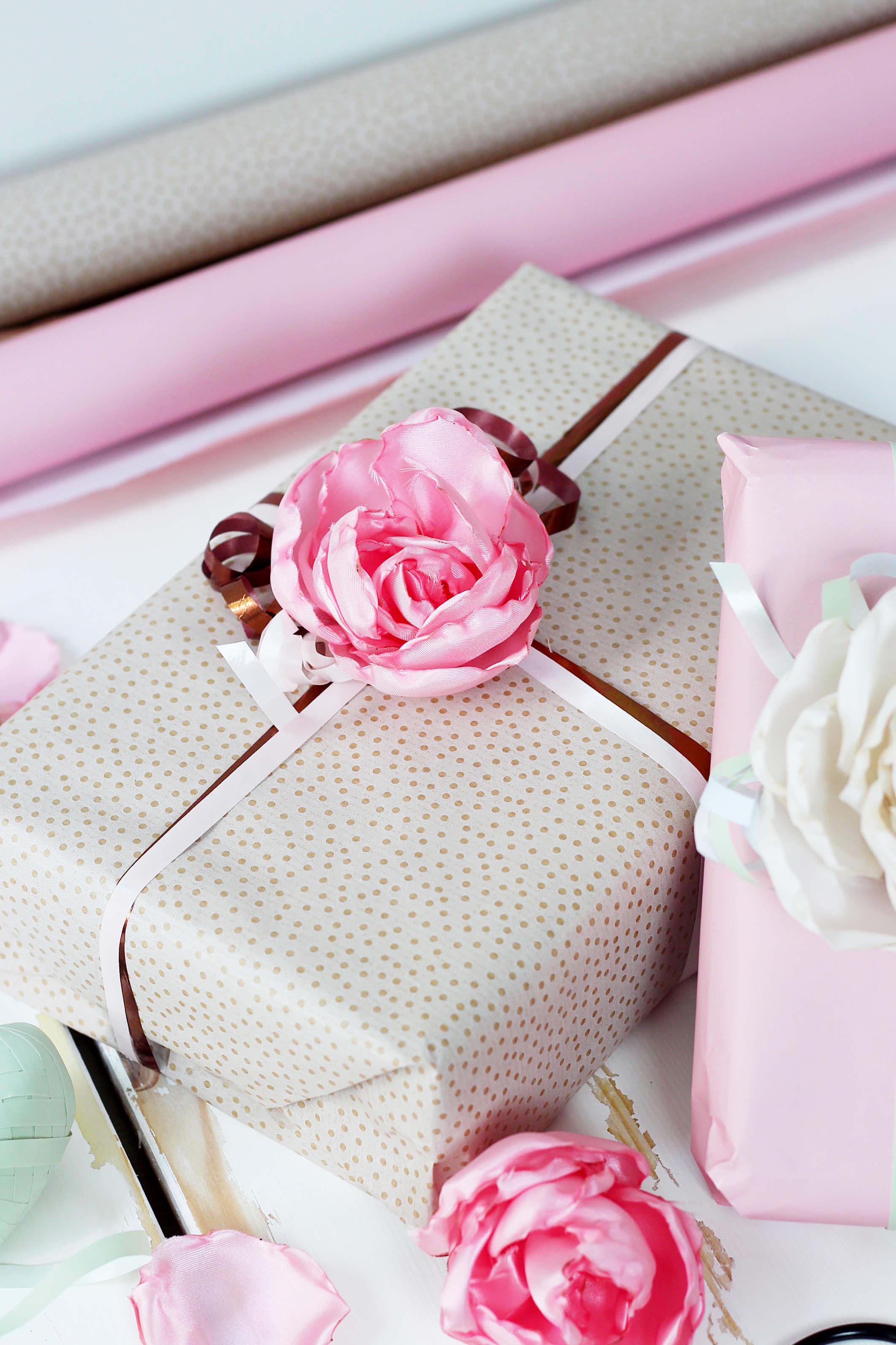 diy geschenke geschenkverpackung selbermachen organza blumen diy blog - Diy Selber Machen