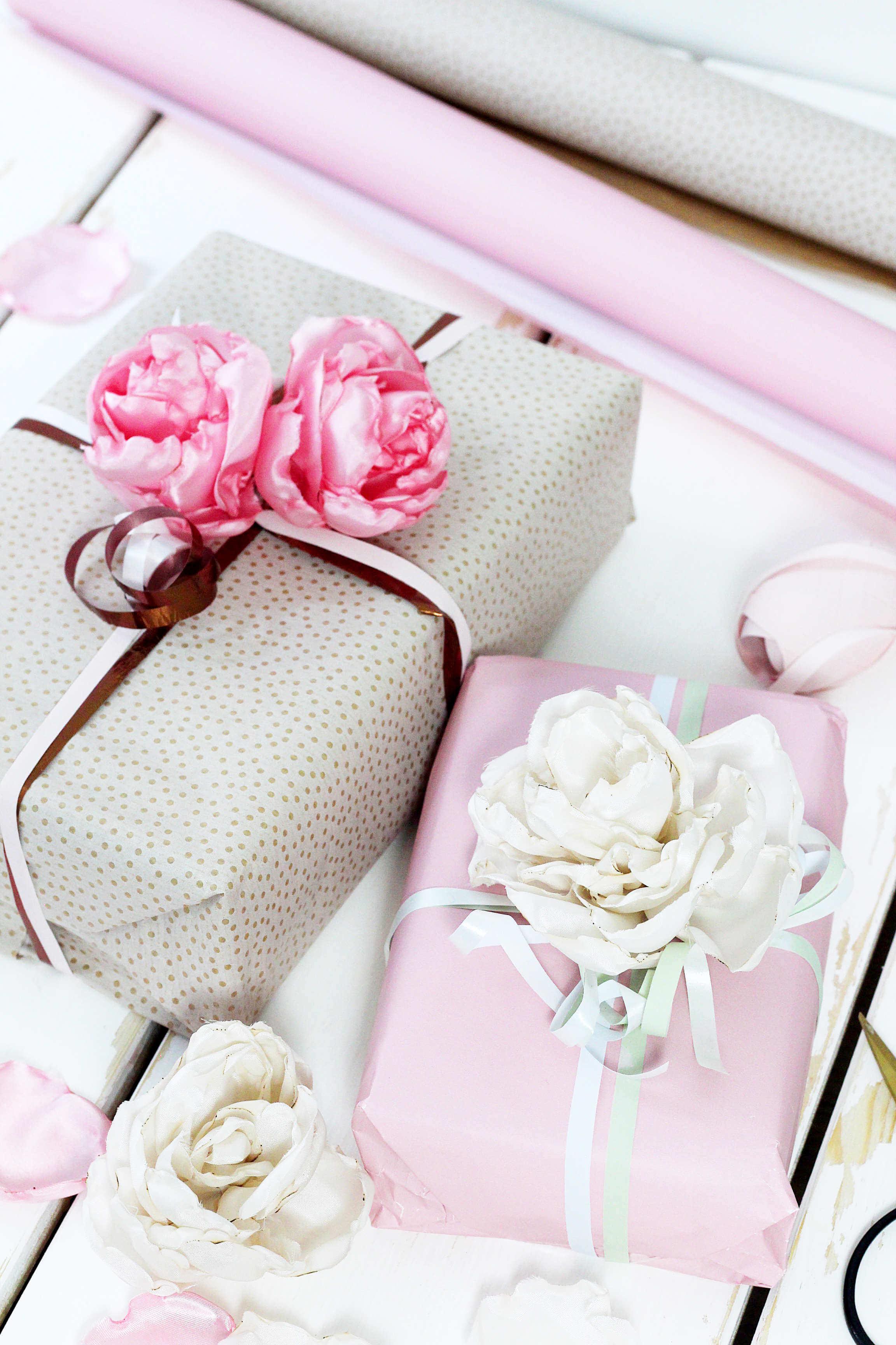 Diy Geschenke Geschenkverpackung Selbermachen Organza Blumen Blog