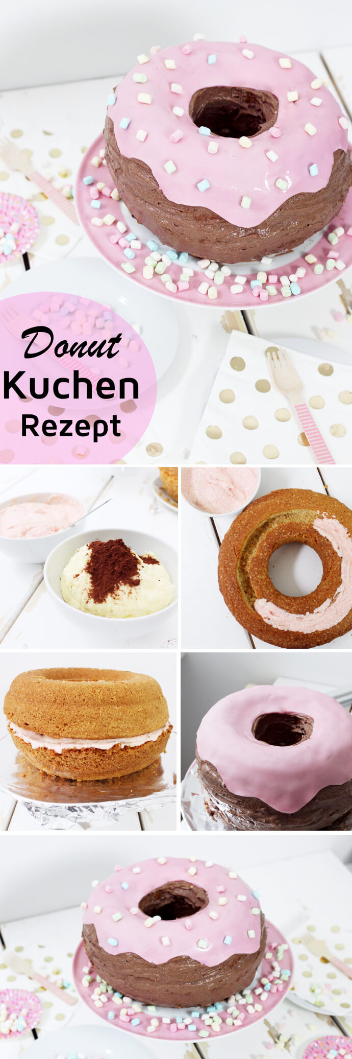 ausgefallene kuchen rezepte donut torte backen. Black Bedroom Furniture Sets. Home Design Ideas