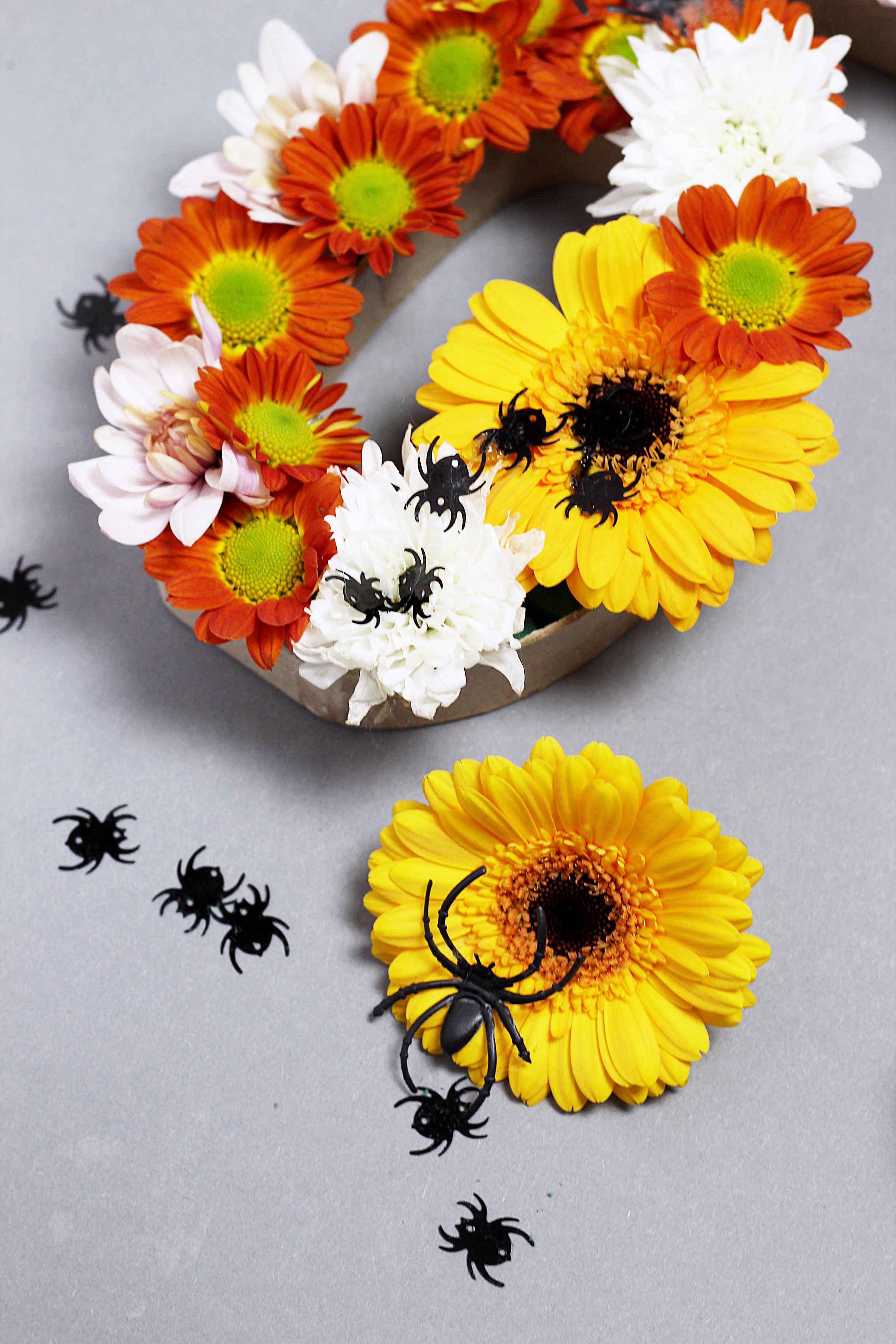 diy halloween deko basteln mit blumen: kreative diy ideen