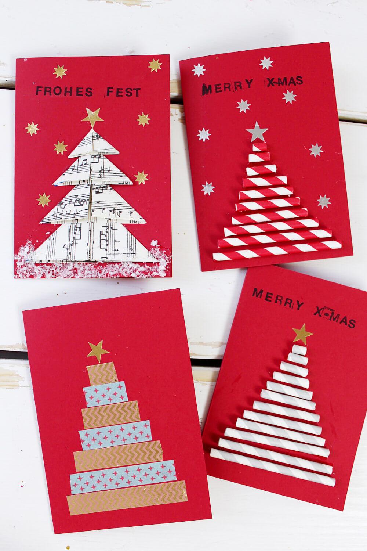 Karten Weihnachten Selber Machen Basteln Diy Blog 1