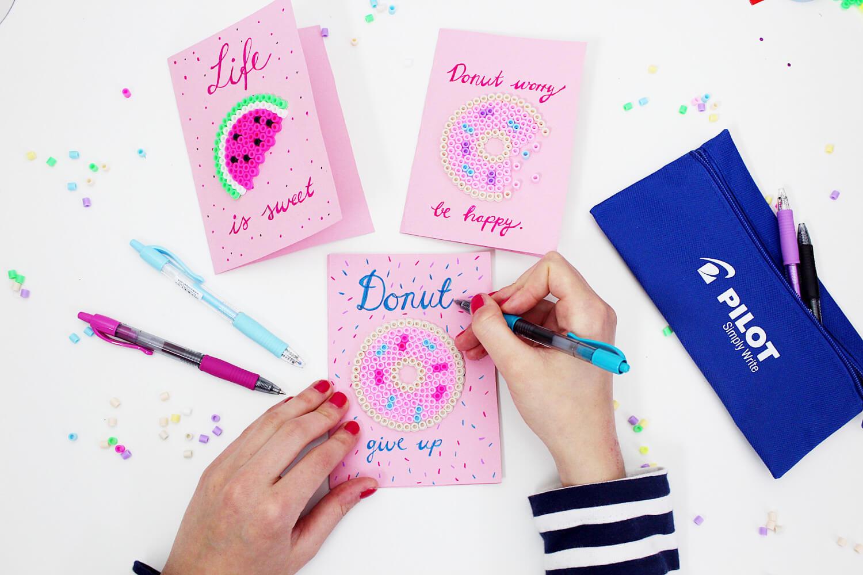 Karten Selber Machen Mac : DIY Karten mit Bügelperlen und Handlettering verzieren