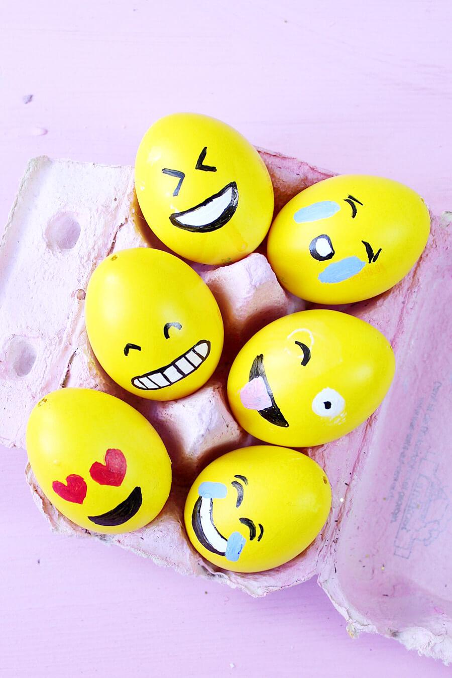 Diy Emoji Ostereier Selber Machen 3 Kreative Oster Deko Ideen