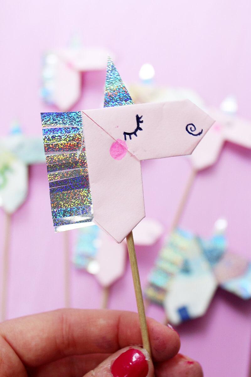 Origami Unicon Glitter
