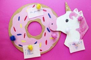 DIY Pinnwand selber machen: Donut 🍩 & Einhorn 🦄 Style!