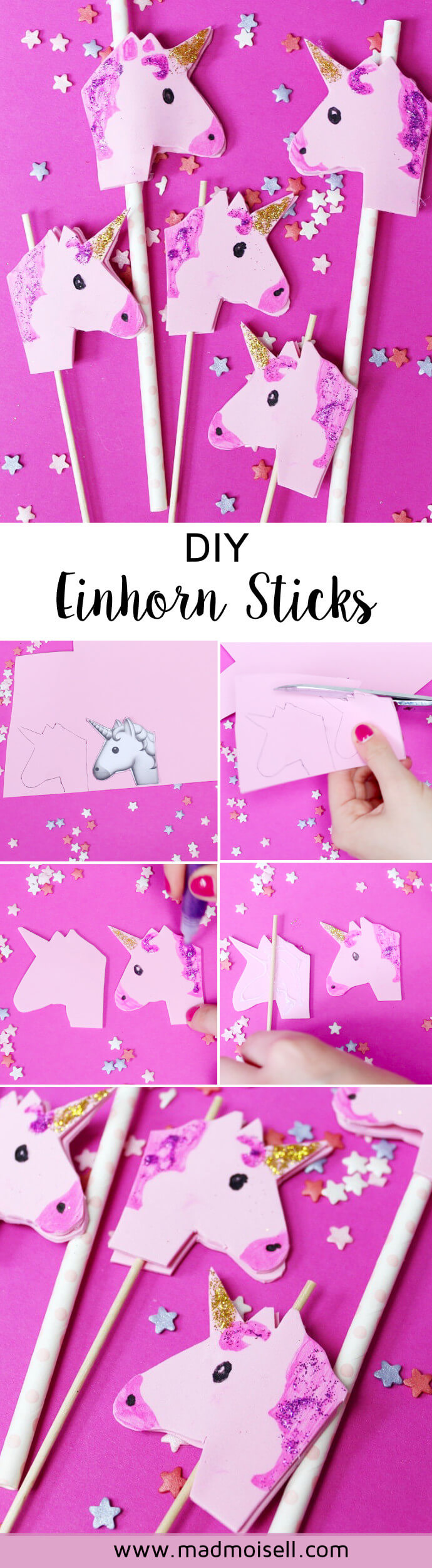 diy picknick ideen selber machen eis am stiel und einhorn limo. Black Bedroom Furniture Sets. Home Design Ideas