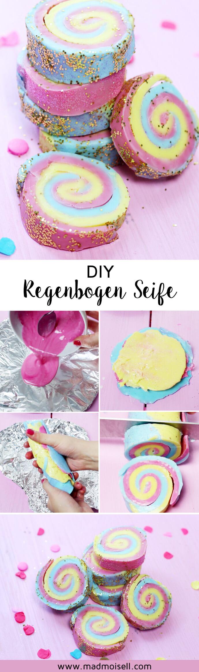 Diy Seife Mit Regenbogen Muster Selber Machen Einfache Anleitung