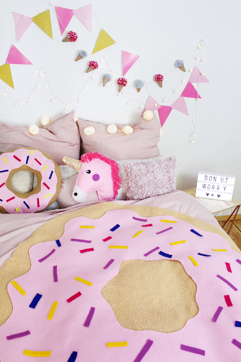 diy donut decke ohne n hen tumblr zimmer deko selber machen. Black Bedroom Furniture Sets. Home Design Ideas