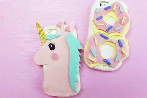 Verrückte DIY Handyhüllen aus Silikon selber machen: Einhorn & Donut!