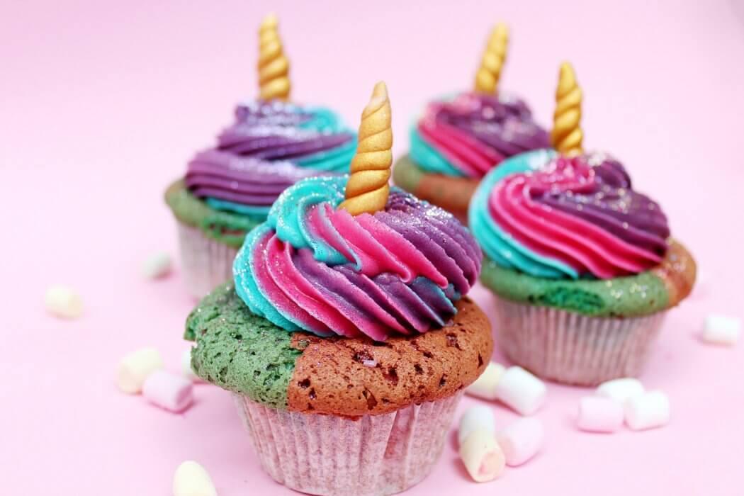 Einhorn Cupcakes Backen Einfaches Muffin Rezept