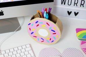 DIY Donut Stiftehalter aus Klopapierrollen selber basteln 🍩