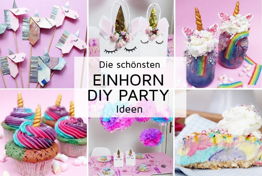 7 originelle einhorn party diy ideen zum selbermachen. Black Bedroom Furniture Sets. Home Design Ideas