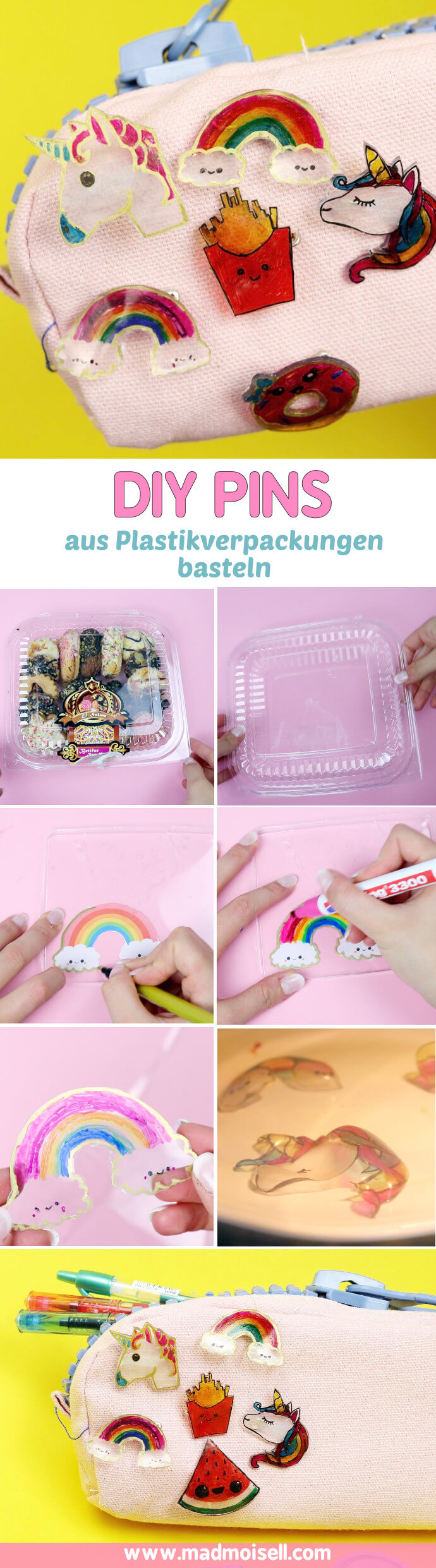 DIY Ideen mit Schrumpffolie [Shrink Plastic] aus Plastik Verpackungen