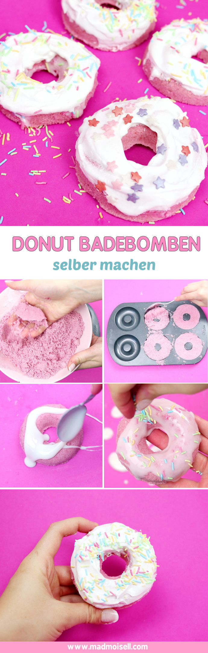 diy donut badebomben selber machen schnelles diy geschenk. Black Bedroom Furniture Sets. Home Design Ideas