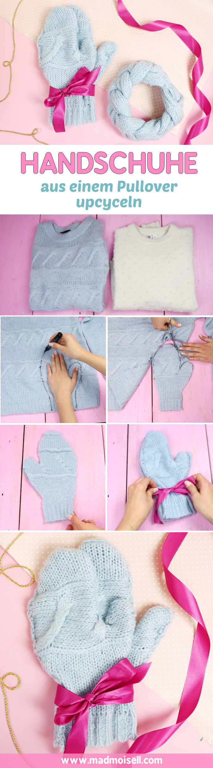 diy handschuhe selber machen schnelles diy weihnachtsgeschenk. Black Bedroom Furniture Sets. Home Design Ideas
