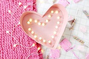 DIY Lampe in Herzform selber machen – Kreative DIY Deko Idee 💖