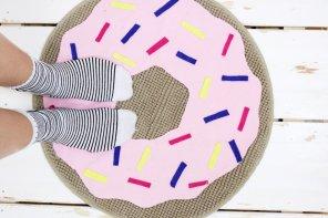 DIY Donut Teppich selber machen: Einfacher IKEA Hack!