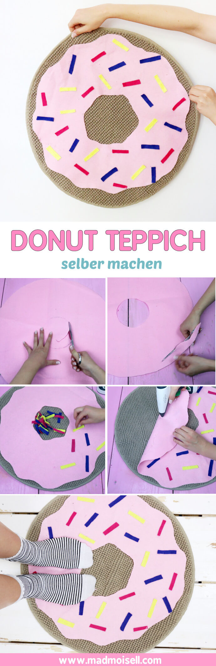 diy donut teppich selber machen einfacher g nstiger ikea hack. Black Bedroom Furniture Sets. Home Design Ideas