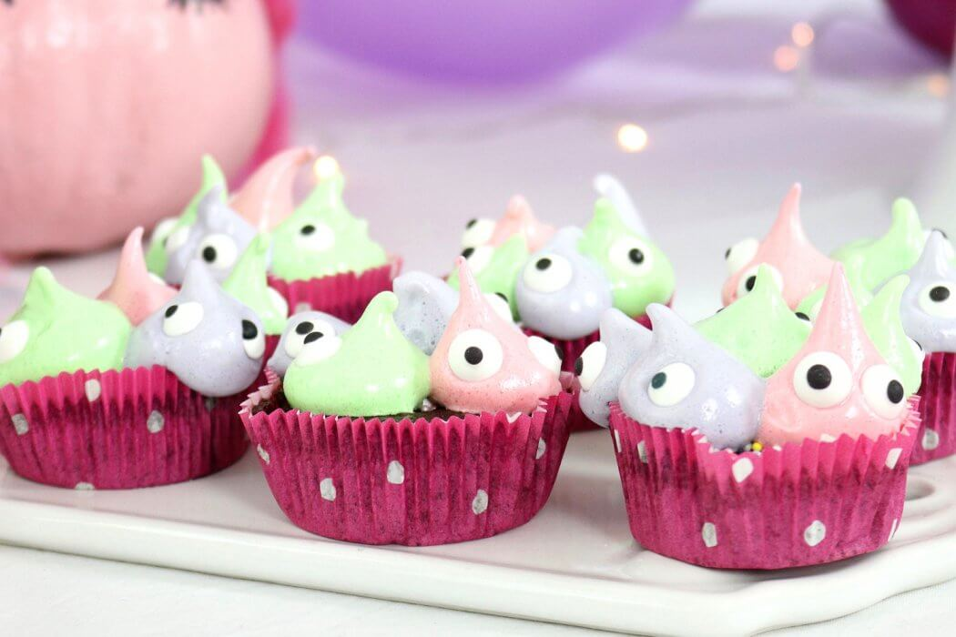 Monster Cupcakes Backen Einfaches Muffin Rezept Fur Halloween