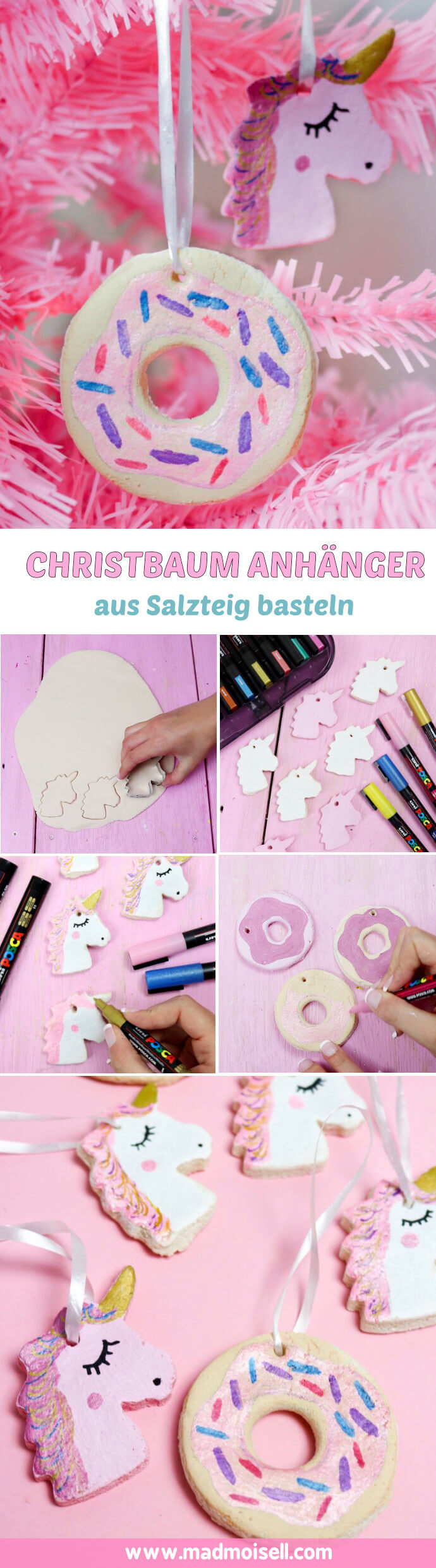 Diy Einhorn Christbaum Anhänger Selber Machen 2 Kreative Diy