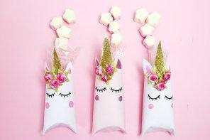 Einhorn Schachtel aus Klopapierrollen falten – Schnelle DIY Geschenkverpackung 💗