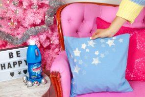 Kissen weihnachtlich mit Sternen verzieren – Genialer DIY Hack mit DanKlorix