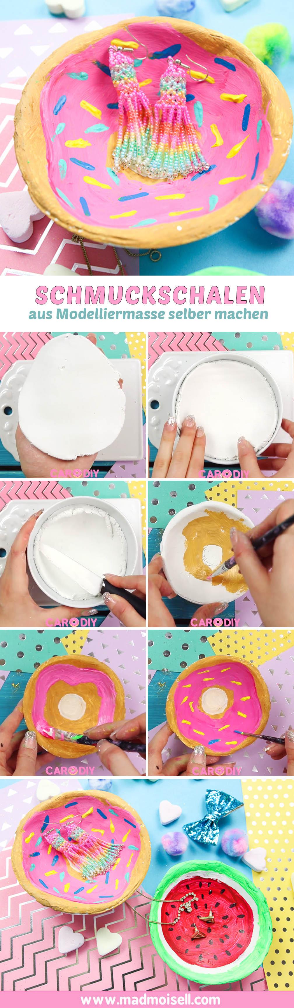 diy schmuckschalen aus modelliermasse selber machen donut wassermelone madmoisell diy blog. Black Bedroom Furniture Sets. Home Design Ideas